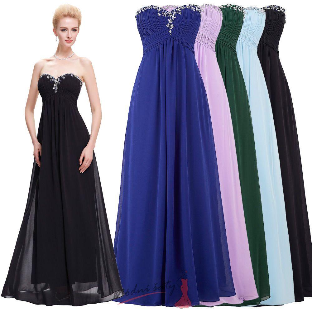 Světle modré společenské šaty s bílou krajkou d9127b64af