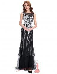 Večerní černé šaty se dvěma sukněmi