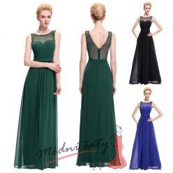 Večerní šaty s průhledným živůtkem - více barev