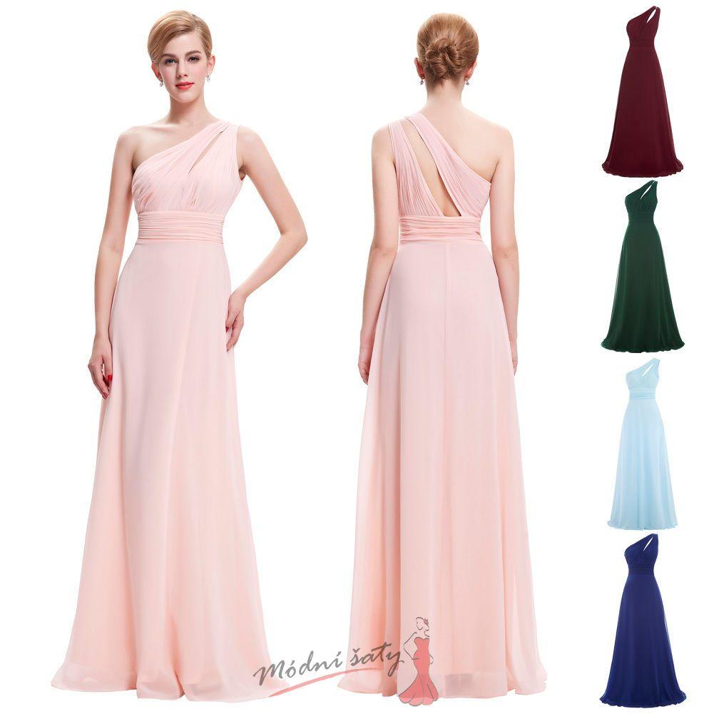 9a35a7e8d4ca Světle růžové šaty s přehozem přes rameno