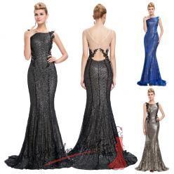 Zářivé flitrové šaty s krajkou - více barev