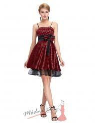Retro šaty s puntíky a tenkými ramínky