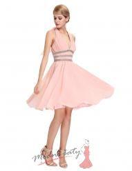 Jemně růžové koktejlky s volnou sukní