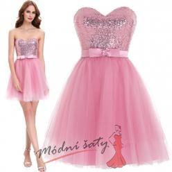 Koktejlky s tylovou sukní v růžové barvě