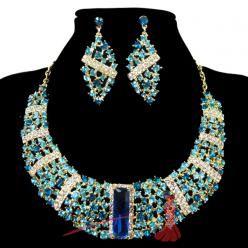 Big crystal set modrý