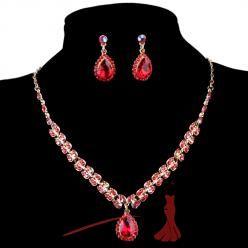 Sparkling crystal set červený
