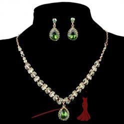 Sparkling crystal set zelený