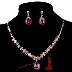 Sparkling crystal set fialový