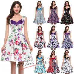 Květinové retro šaty - více vzorů