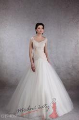 Vel. 38.- Bílé svatební šaty Carina