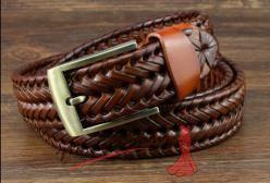 Pletený pásek sv. hnědý