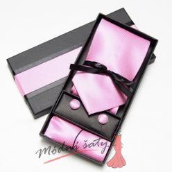 Pánská kravata růžová