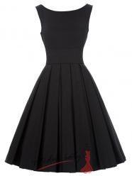 Vel. L.- Letní šaty s volnou řasenou sukní