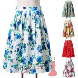 Retro sukně - více barev a vzorů
