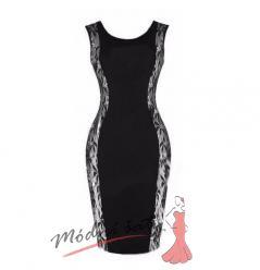 Černé šaty s krajkovým lemováním