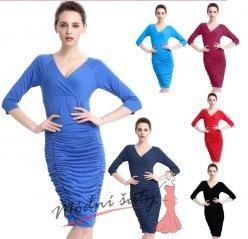 Letní šaty s nabíranou sukní