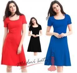 Letní šaty s áčkovou sukní