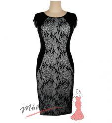 Černé uplé šaty s krajkou