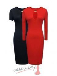 Uplé šaty se sponou s dlouhým nebo krátkým rukávem