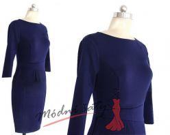 Vínové nebo modré šaty s řasením
