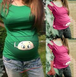 Těhotenské tričko s potiskem