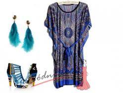 Modro fialová tunika